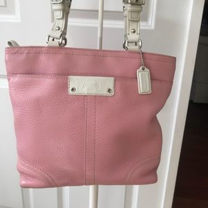 Coach Bags - ♥️🌻Coach Pink Leather Tote! Darling!